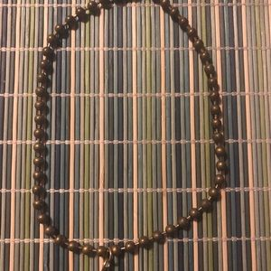"""16"""" antique brass ball chain necklace"""